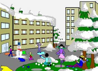 冬天的校园