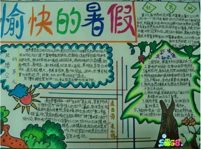 暑假生活手抄报(6)