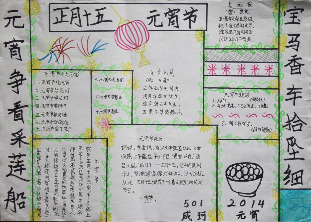 元宵节手抄报图片大全(3)