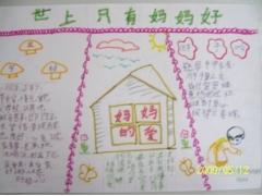 小学生母亲节手抄报图片