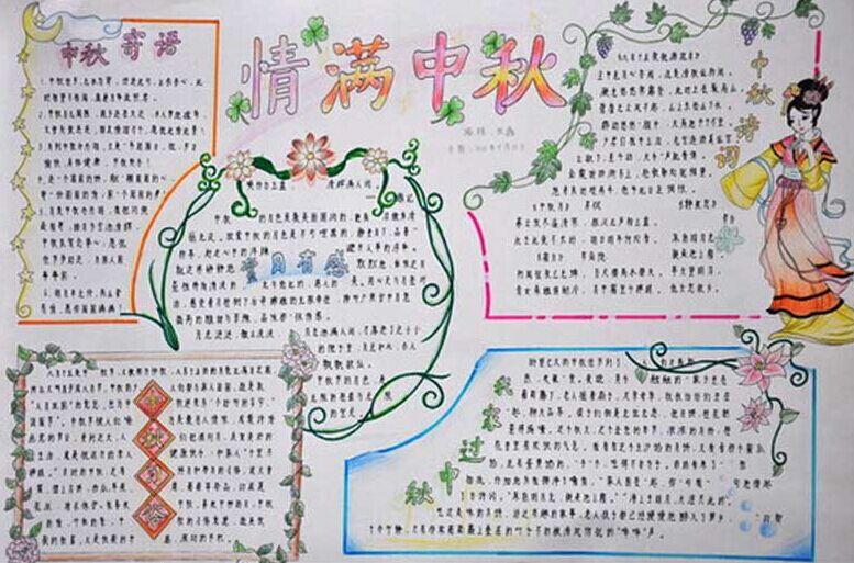 中秋团圆手抄报图片(2)-团圆的美好 中秋节手抄报