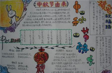 中秋节手抄报版面设计(2)