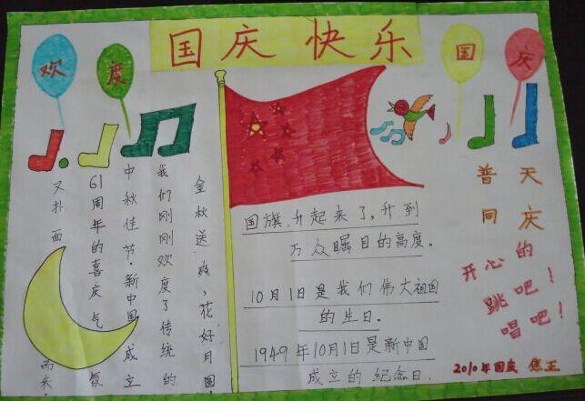 欢度国庆手抄报图片大全(2)