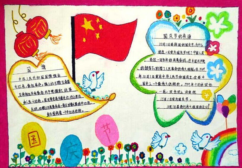 国庆节手抄报版面设计(2)