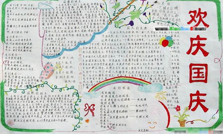 小学生国庆节手抄报图片