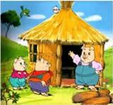 三只小猪盖房子的故事